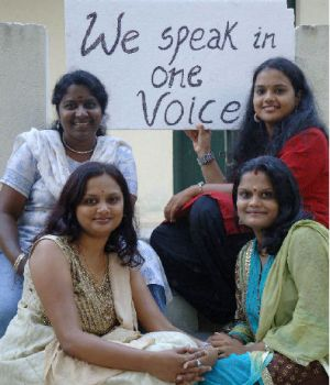 Dubbing artists (from left top clockwise): Pramila, Gee Gee, Priya Anand and Divya Ganesan
