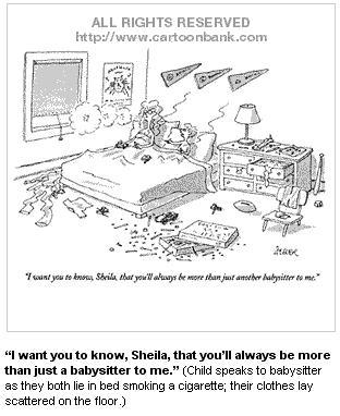 Babysitter-New-Yorker-Abuse-Cartoons-Comics-Fun-Pun-satire