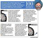 HT-Manmohan-100-days-hits-miss-synopsis-Congress-sonia-government