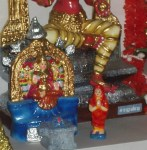 Main Golu- Kanchi Kamakshi & Adi sankarar- Kapaleeswarar temple.