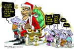 Daryl_Cagle_Cartoon_Obama_Santa_Claus_Christmas_Wish_List_Tax_Cuts_Entitlements