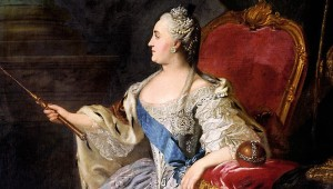 Oil on canvas portrait of Empress Catherine the Great by Russian painter Fyodor Rokotov_Wiki