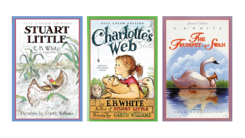 E_B_White_Books_Stuart_Little_Charlottes_Web_Trumpet_Swan_New_Yorker_Kids_Children