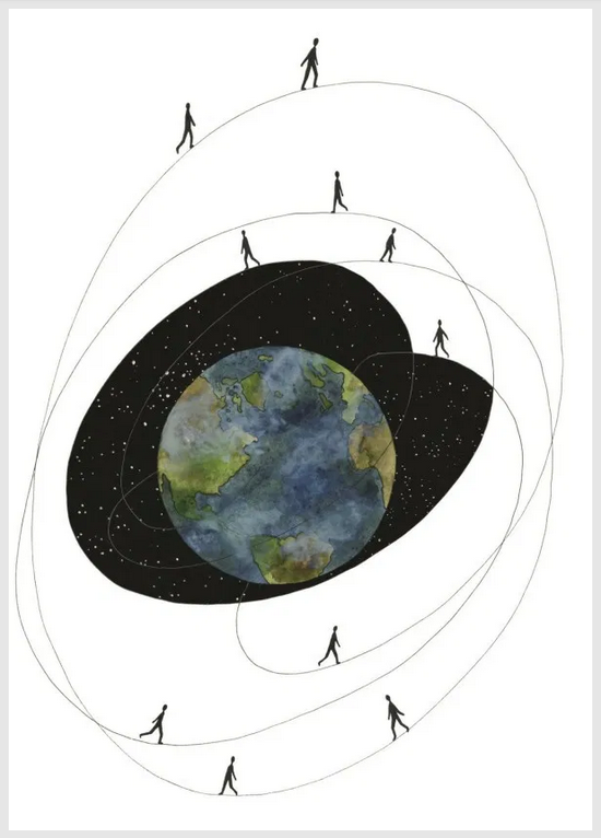 Art from Eating the Sun: Small Musings on a Vast Universe by Ella Frances Sanders